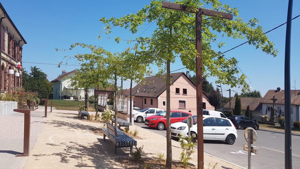 Plantation d'arbres à Meroux (90)